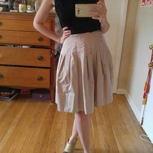 Pleated BCBG knee length skirt